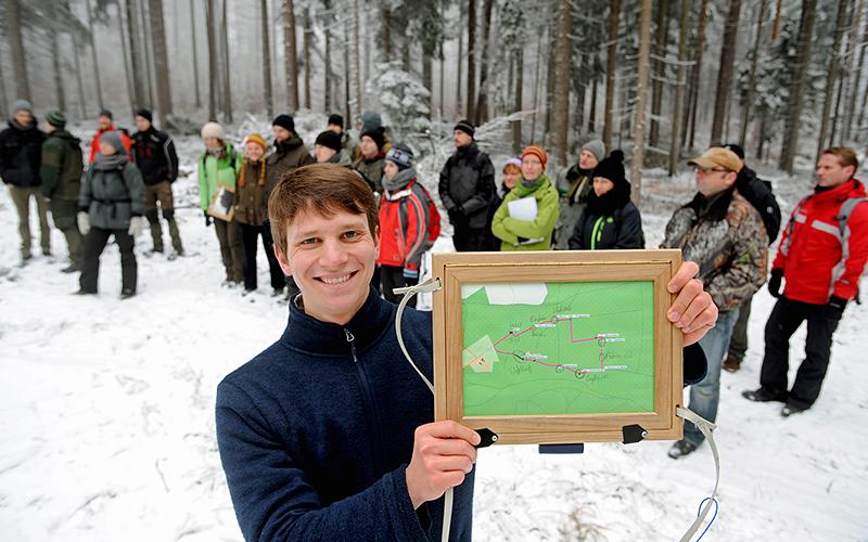 Lehrpfad durch den Wald - Forstwirtschaft mit Pädagogik kombiniert