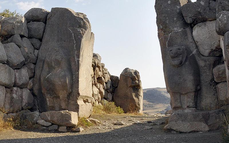 Türkisches Kulturgut: Das Löwentor in Hattuscha
